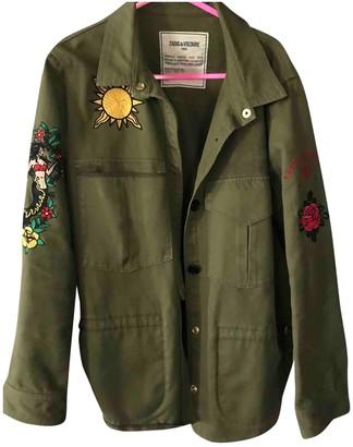 Zadig & Voltaire Khaki Denim - Jeans Leather Jacket for Women
