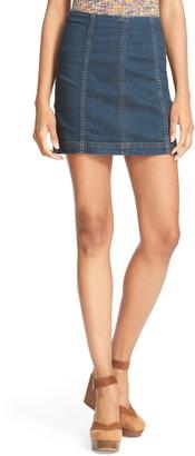 Free People Modern Denim Mini Skirt