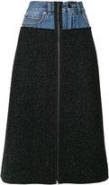 Maison Margiela denim waist A-line skirt - women - Cotton/Virgin Wool - 42