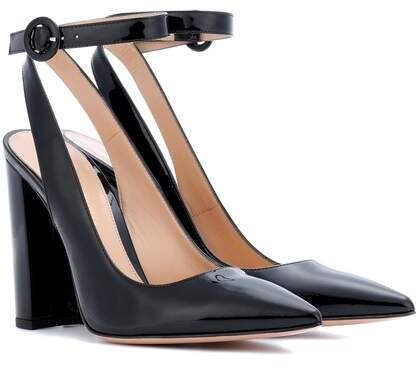 Gianvito Rossi Exclusive to mytheresa.com – Patent leather slingback pumps