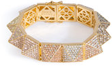 Eddie Borgo Gold-Plated Pyramid Bracelet with Crystal Embellishment