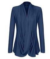 ACEVOG Women's V Neck Pullover Long Sleeve Jumper Cardigan Blouse Shirt Tops