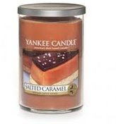 Yankee Candle Salted Caramel Small Single Wick Tumbler Candle, Food & Spice Scent