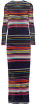 Missoni Striped Metallic Crochet-knit Maxi Dress - Black