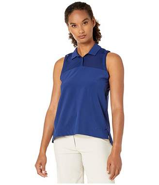 Nike Dry Flex Sleeveless Polo (Blue Void/Blue Void) Women's Clothing