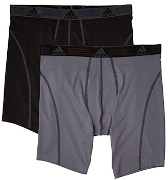 adidas Sport Performance Climalite(r) 2-Pack Midway (Black/Thunder/Thunder/Black) Men's Underwear