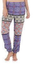 Minkpink Tile Print Splice Cuff Beach Pants
