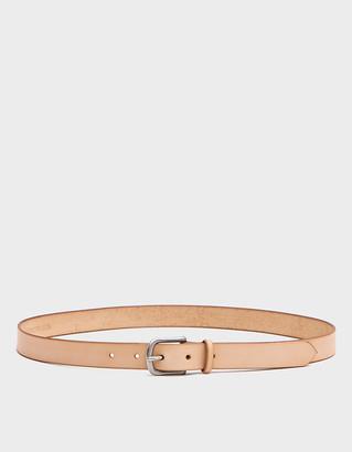 Maximum Henry Men's Slim Standard Belt in Sand, Size Small   Leather