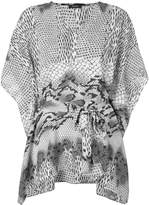 Natori printed kaftan blouse