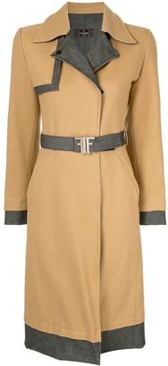 Fendi Pre Owned Long Sleeve Coat