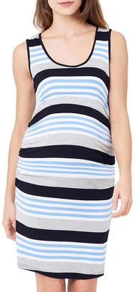 Ripe Stripe Nursing Dress Sky