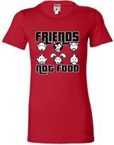Go All Out Screenprinting Medium Juniors Friends Not Food Vegetarian Vegan Animal Lovers T-Shirt