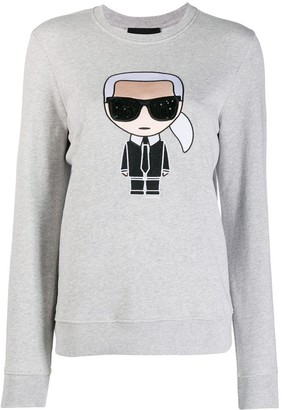 Karl Lagerfeld Paris embroidered sweatshirt