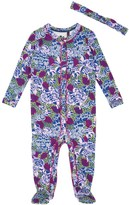 Juicy Couture Outlet - BABY KNIT AMAZON FLORAL FOOTIE WITH HEADBAND