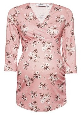Dorothy Perkins Womens Maternity Pink Floral Print Top, Pink