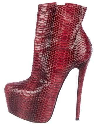 best loved 8937f 517cd Snakeskin Platform Boots