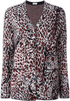 Saint Laurent animal print cardigan - women - Polyamide/Polyester/Viscose/Wool - XS