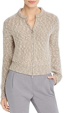 Fabiana Filippi Marled Knit Zip-Front Cardigan