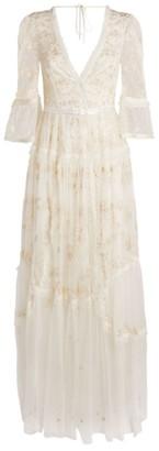Needle & Thread V-Neck Pennyflower Gown
