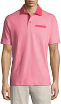 Tailorbyrd Birdseye Pique Polo Shirt, Coral