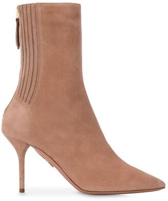 Aquazzura Saint Honore 85mm leather boots