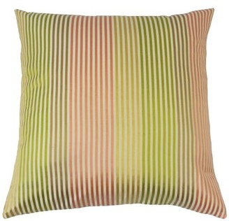 The Pillow Collection Taregan Stripes Bedding Sham Size: Euro