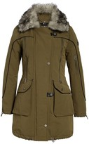 Lucky Brand Women's Zip Detail Parka With Faux Fur