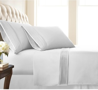 SouthShore Fine Linens Premium Collection Double Brushed - Extra Deep Pocket Pleated Sheet Set - Split King