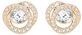 Swarovski Generation Crystal Pave Stud Earrings