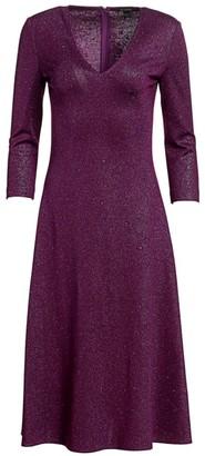 St. John Evening Milano Sequin Knit V-Neck Dress