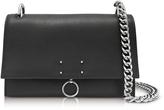 Jil Sander Black Leather Small Ring Shoulder Bag
