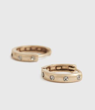 AllSaints Calypso Gold-Tone Hoop Earrings