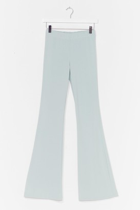 Nasty Gal Womens Flare for You High-Waisted Pants - Mint
