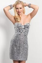 Blush Lingerie Sparkling Strapless Sequined Cocktail Dress 9440