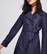 LOFT Tall Denim Twill Trench Coat