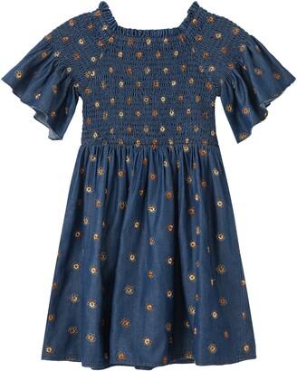 Habitual Kids Marlowe Smocked Embroidered Dress