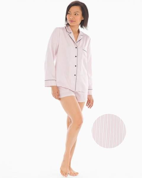 0fc32e22885 In Bloom Look of Love Satin Shorts Stripe Pajama Set