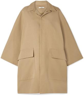 Co Cape-effect Cotton And Wool-blend Gabardine Coat