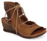 Miz Mooz Women's Satine Ghillie Wedge Sandal
