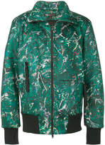 Y-3 funnel neck bomber jacket