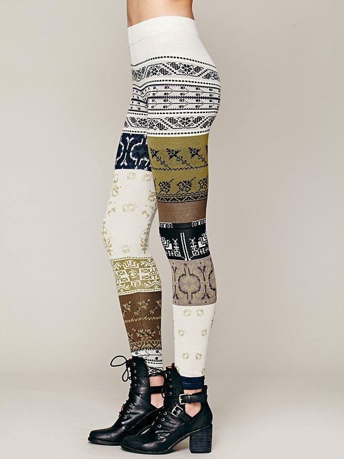 Free People Patchwork Sweater Legging