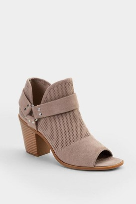 Fergalicious Augustine Perforated Bootie - Light Gray