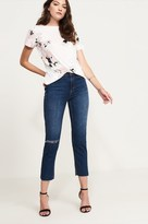 Dynamite High Rise Jeans With Frayed Hem