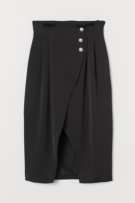H&M Satin wrapover skirt