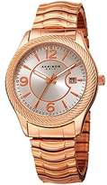 Akribos XXIV Men's Rose-Tone Case with -Tone Dial on Rose-Tone Stainless Steel Bracelet Watch AK946RG