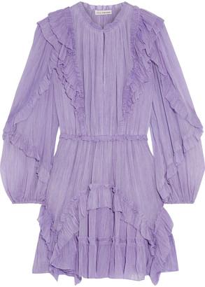Ulla Johnson Ruffled Silk-georgette Mini Dress
