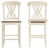 "Homelegance Countryside 24"" Counter Stools Hardwood/Antique White (Set of 2)"