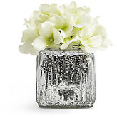 Marks and Spencer Lit Hydrangea in Mercury Cube Vase