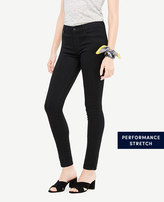 Ann Taylor Tall Curvy All Day Skinny Jeans in Jet Black