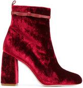 RED Valentino velvet ankle boots - women - Leather/Velvet - 36